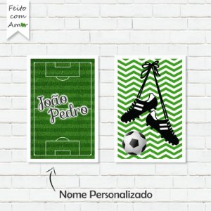 Kit de Placas Decorativas Futebol