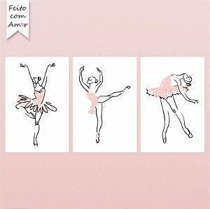 Kit Placas Decorativas Bailarinas