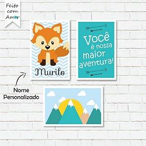 Kit de Placas Decorativas Nossa Maior Aventura