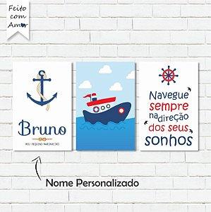 kit de Placas Decorativa Marinheiro