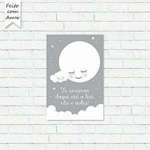 Placa Decorativa Lua Cute