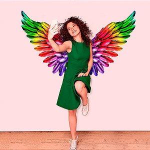 Adesivo Decorativo Asas de Anjo Colorful