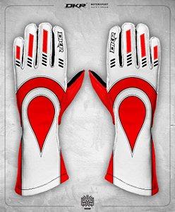 01. Luva Linha Piquet Vermelha com Branco