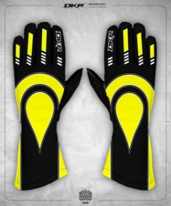 03. Luva Linha Piquet Preto com Amarelo
