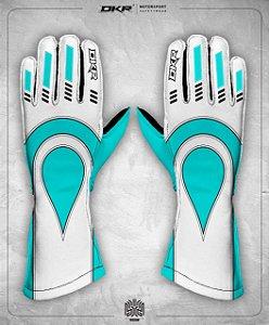 07. Luva Linha Piquet Branco com Azul