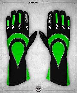 08. Luva Linha Piquet Preto e Verde