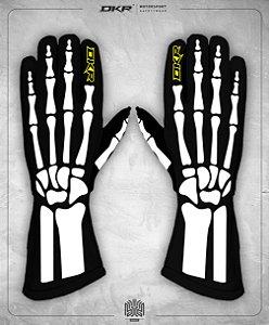 09. Luva Linha Bones Preto e Branco