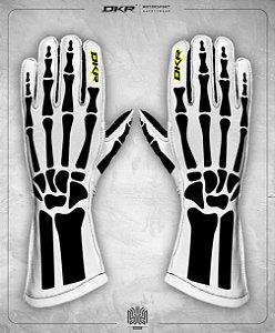 11. Luva Linha Bones Branco e Preto