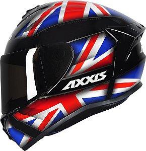 AXXIS DRAKEN UK GLOSS BLACK/RED/BLUE