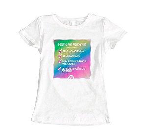 Camisa Baby Look - Mentes Sem Preconceito