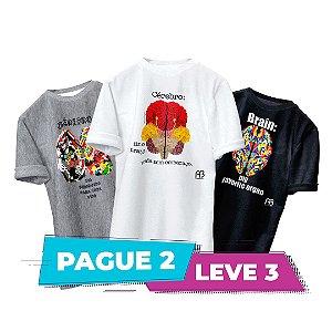 Kit 2 - Camisas -  Cérebro