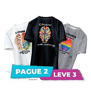 Kit 3 - Camisas -  Cérebro