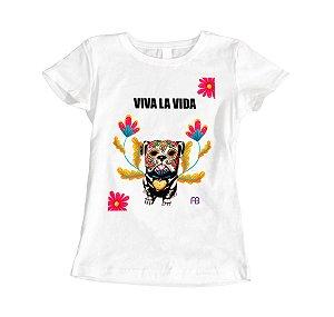 Camisa Baby Look - Pets Caveira Mexicana