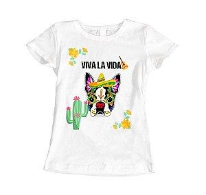 Camisa Baby Look - Bulldog Caveira Mexicana