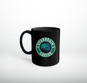 Caneca Cérebro Verde - Starbrain Coffee