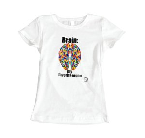 Camisa Baby Look - Brain: My Favorite Organ