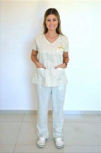 Pijama Hospitalar Little Hearts Bege