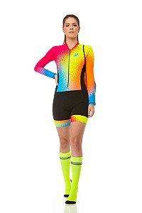 Macaquinho Ciclismo Rainbow Longo Z-Nine