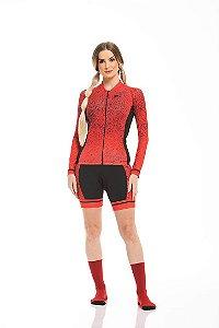 Camisa Ciclismo Sport Longa Red Brake Z-Nine
