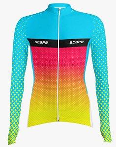 Camisa Ciclismo Manga Longa Happy Scape