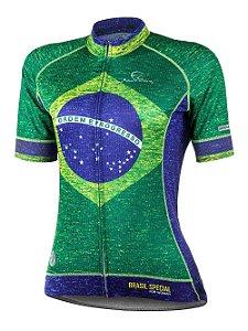Camisa Ciclismo Brasil Special Feminina Mauro Ribeiro