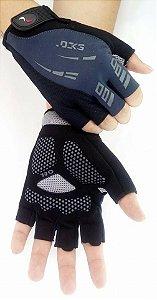 Luva Ciclismo Flash Curta Cinza Pro Hand