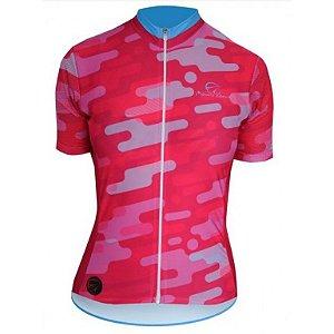 Camisa Ciclismo Camuflada Rosa Mauro Ribeiro (PROMOÇÃO)