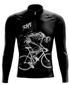 Camisa Ciclismo Manga Longa Esqueleto Scape