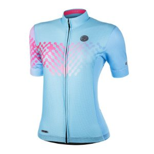 Camisa Ciclismo Link Azul Mauro Ribeiro