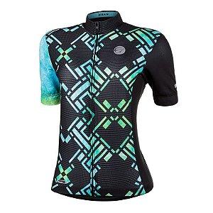 Camisa Ciclismo Draw Verde Mauro Ribeiro