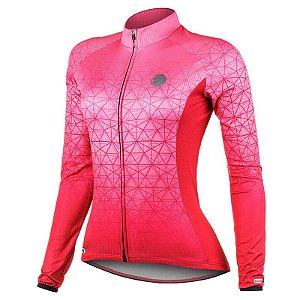 Camisa Ciclismo Weft Rosa Feminina Mauro Ribeiro