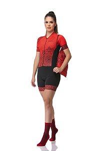 Macaquinho Ciclismo Red Flowers Z-Nine