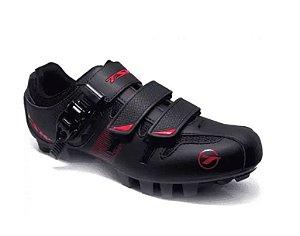 Sapatilha Ciclismo CAVE MTB TSW Preta/Vermelha