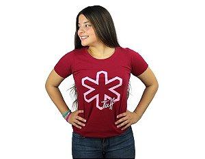 Camiseta Tuff Feminina Vermelha Silk Rosa TS4116