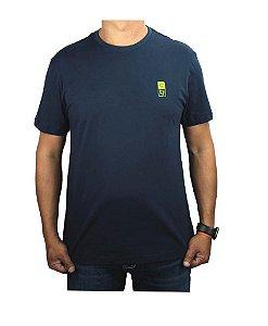Camiseta Tuff Masculina Azul Marinho Silk Verde TS3995