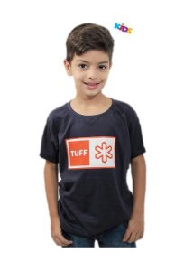 Camiseta Tuff Infantil Marinho Silk Logo Laranja TS2285