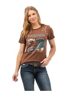 Camiseta Zenz Western Feminina Alma ZW0421033