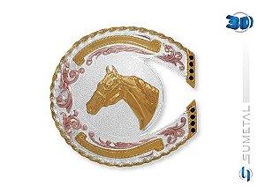 Fivela Cabeça De Cavalo Sumetal 7548F
