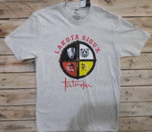 Camiseta Tatanka Masculina Mescla Lakota Sioux