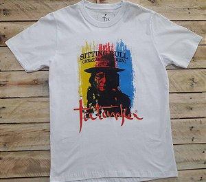 Camiseta Tatanka Masculina Branca Sitting Bull