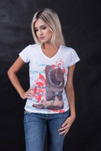 Camiseta Miss country Boots Adulto
