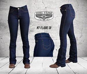 Calça Jeans King Farm Feminina Flare Amaciada KF01