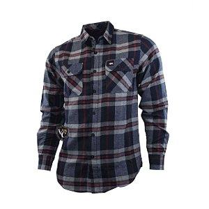 Camisa Xadrez Gringa'S Western Masculina Nvy/Red