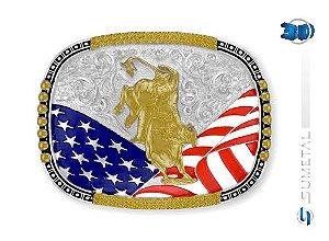 Fivela Bandeira EUA Sumetal 10572F