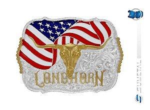 Fivela Longhorn Bandeira Sumetal 10573F