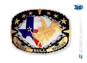 Fivela Sumetal Texas Bulll Rider 6459F