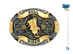 Fivela Touro Bull Rider Colors Sumetal 9743FJ