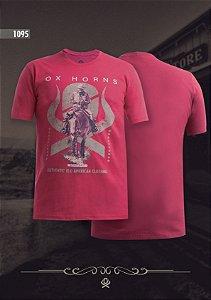 Camiseta Ox Horns Masculina Vermelha 1095
