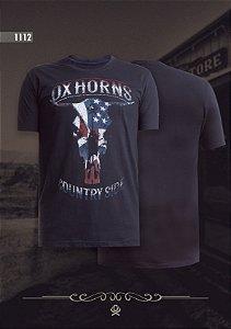 Camiseta Ox Horns Masculina Preta 1112