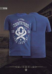 Camiseta Ox Horns Masculina Azul 1116